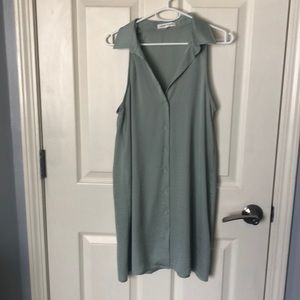 Silk Green collared dress